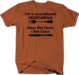Secondhand Vegetarian, Cows Eat Grass Hunting Meat Beef Funny