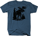 Moose in Mountains Scene