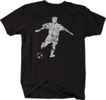 Distressed -  Soccer Player Kicking Ball