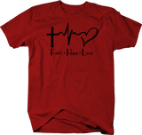 Faith Hope Love Cross Heart Tee