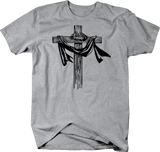 Wooden Cross Religion Crucifix & Crown of Thorns