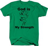 God is My Strength Wooden Cross Jesus