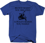 Motorycle - Blood Makes You Related Loyalty Makes You Family -