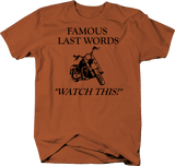Motorcycle - Famous Last Words - Watch This! Street Bike