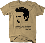 James Dean Memorial QuoteDream as if you'll Live Forever