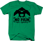 No Pain No Gain Evil Pumped Muscle Swole Penguin Gym