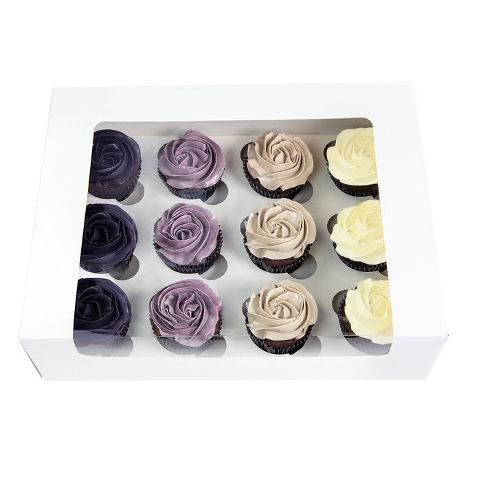 24 Mini Cupcake Box L'Artisan - White