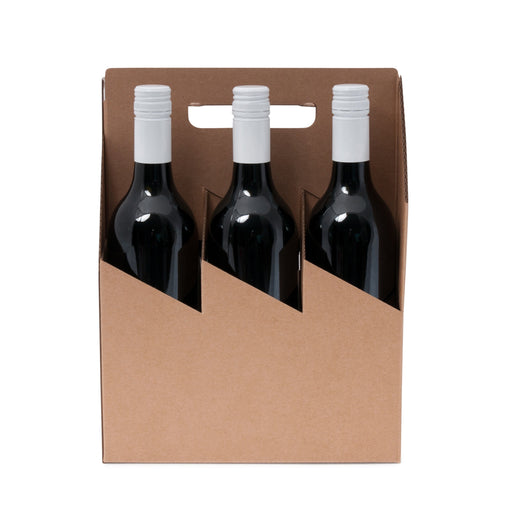 6 Bottle Wine Carrier - Kraft
