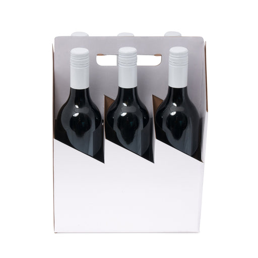 6 Bottle Wine Carrier - White