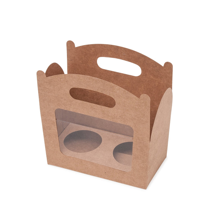 Amelia 2 Cupcake Carry Box - Kraft