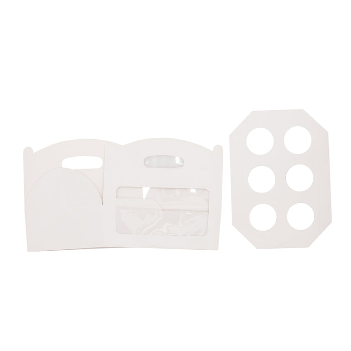 Amelia 6 Cupcake Carry Box - White