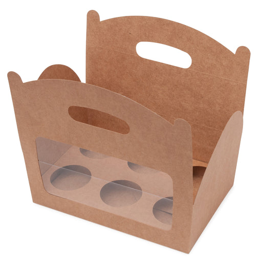 Amelia 6 Cupcake Carry Box - Kraft