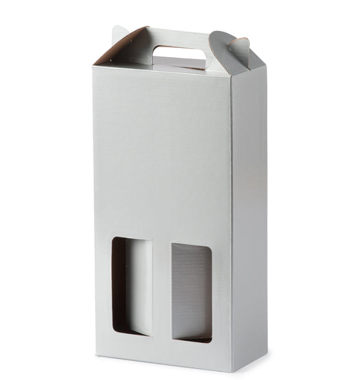 Double Wine Box - Silver