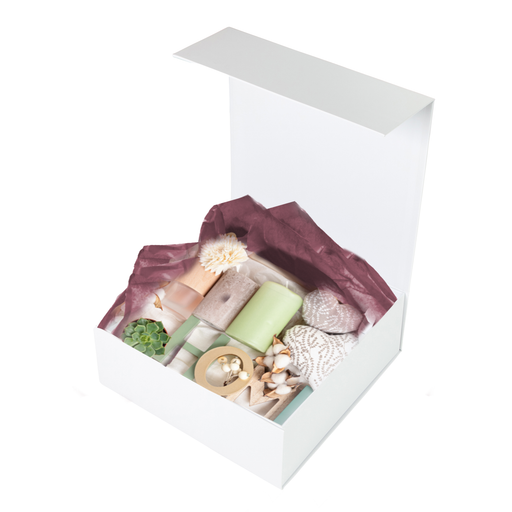 Hamper Box - Square, Magnetic Closure Small, Matt White - Sample