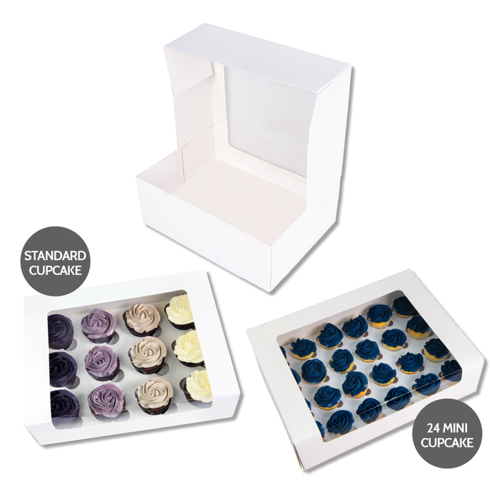 24 Mini Cupcake Box L'Artisan - White - Sample