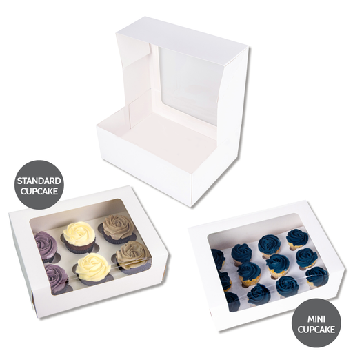 12 Mini Cupcake Box L'Artisan - White