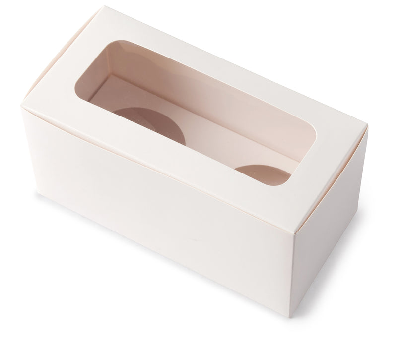 Two Cupcake Box - White - Sample