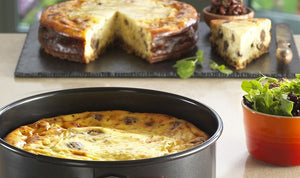 Savoury Chestnut Cheesecake with Onion Marmalade Recipe