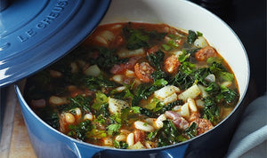 White Bean, Chorizo and Cavolo Nero Soup Recipe