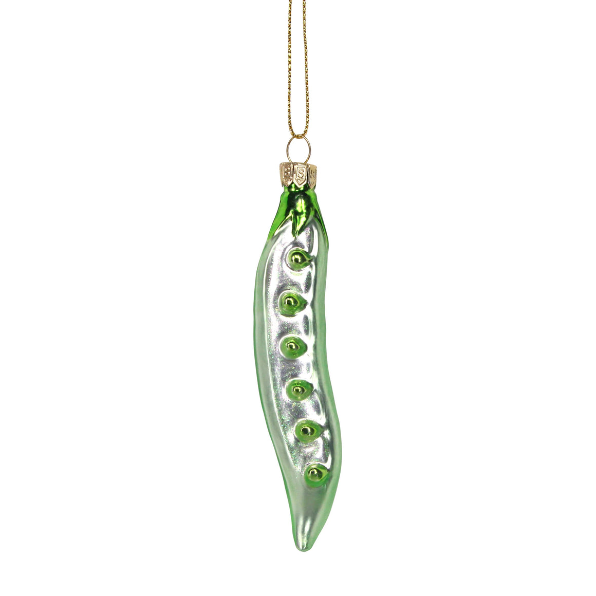Pea Pod Glass Decoration