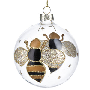 Bee Glass Bauble