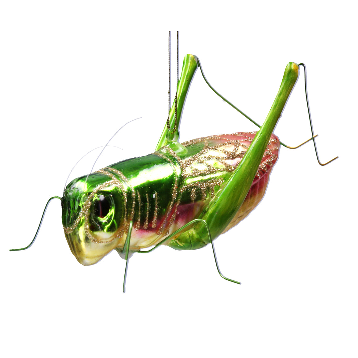 Grass Hopper Glass Decoration