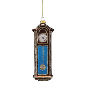 Grandfather Clock Glass Decoration