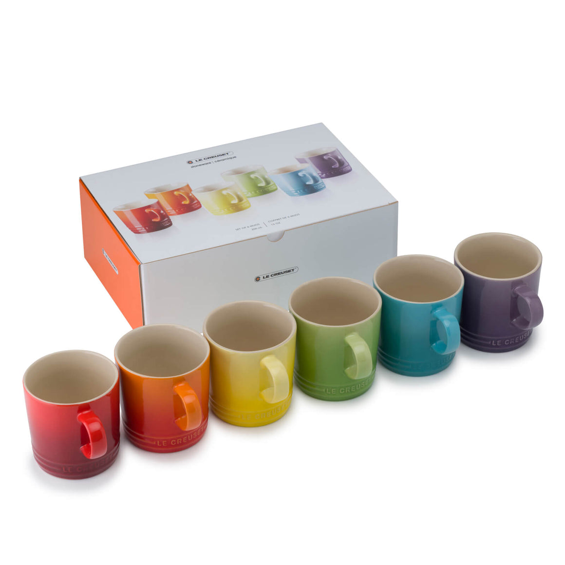 Le Creuset Rainbow 350ml Mug Set