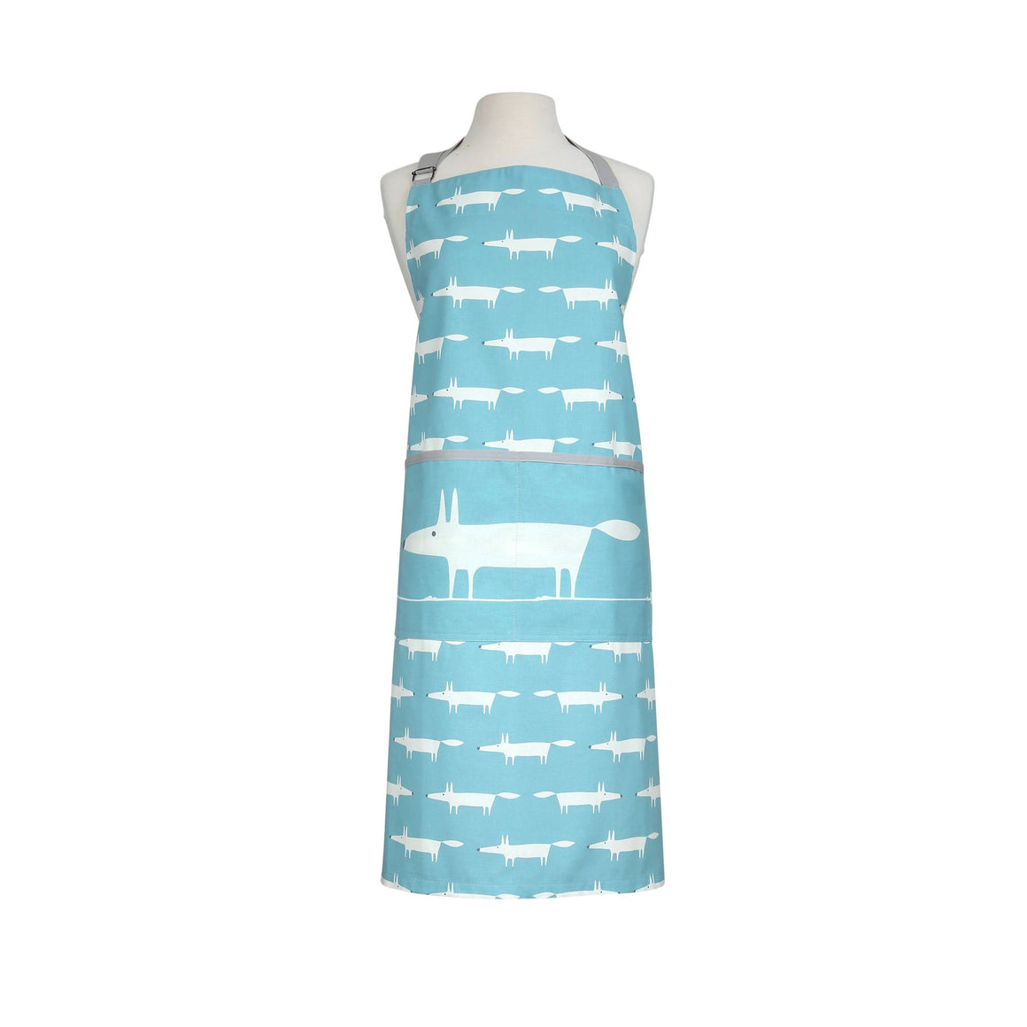 Scion Mr Fox Teal Apron