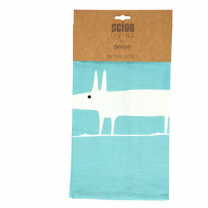 Scion Mr Fox Teal Tea Towel Set