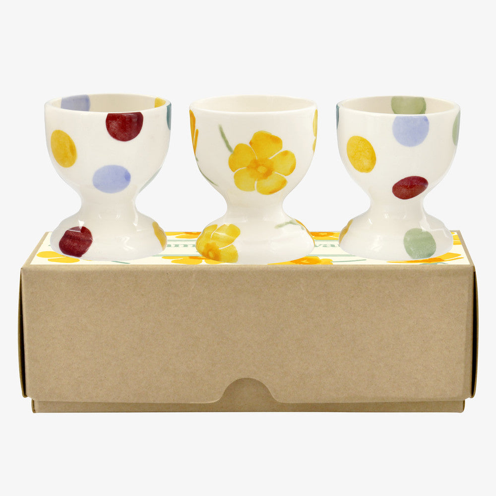 Emma Bridgewater Buttercups & Polka Dot Egg Cup Set