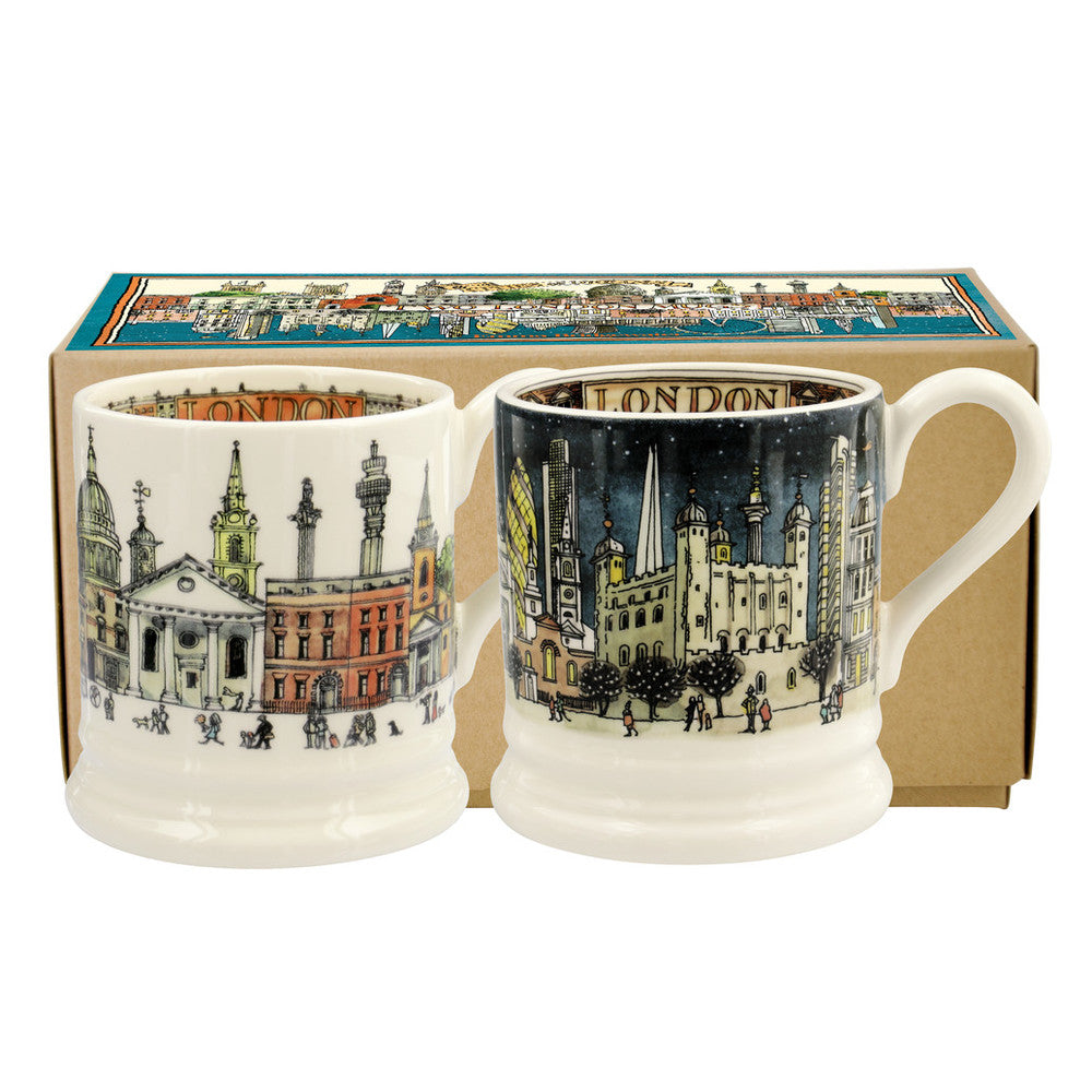 Emma Bridgewater London Half Pint Mug Set