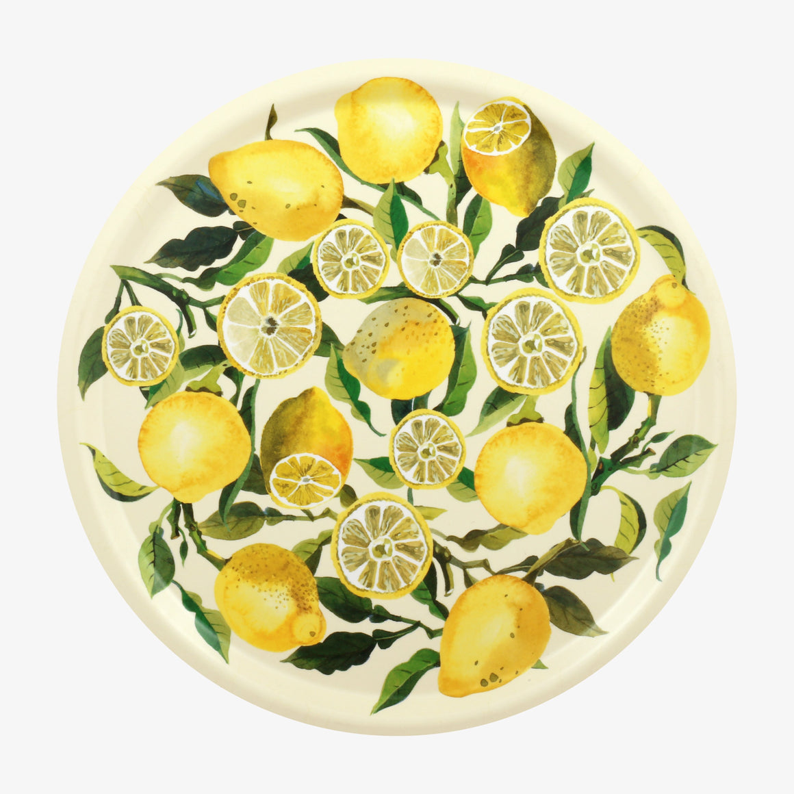 Emma Bridgewater Lemons Round Birch Tray