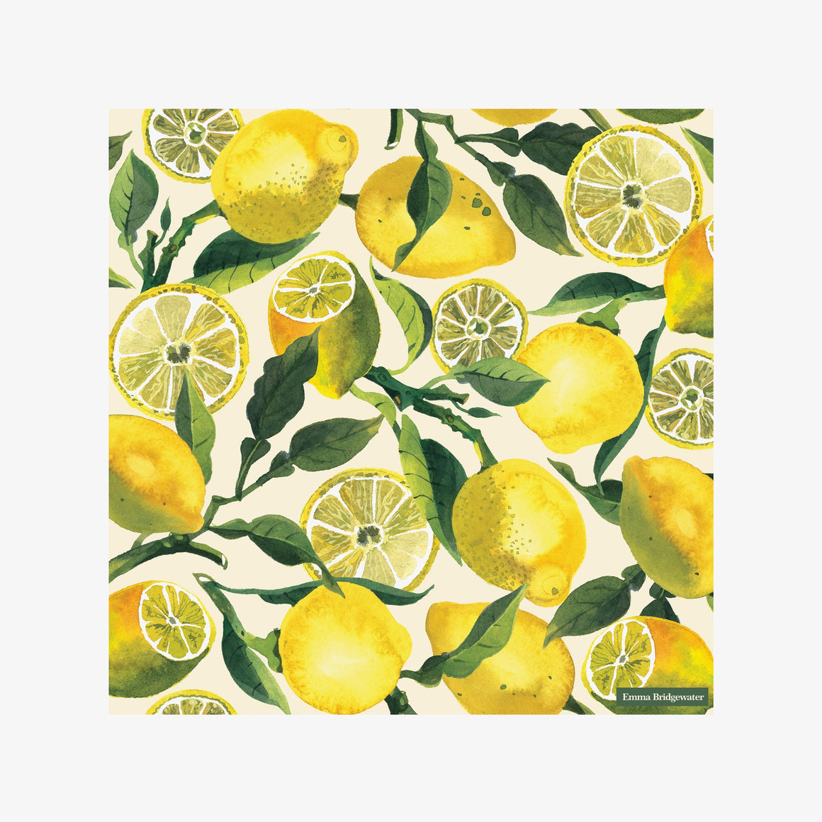 Emma Bridgewater Vegetable Garden Lemons Lunch Napkin