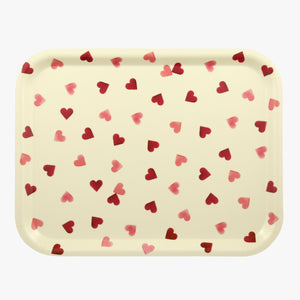 Emma Bridgewater Pink Hearts Birch Rectangular Tray