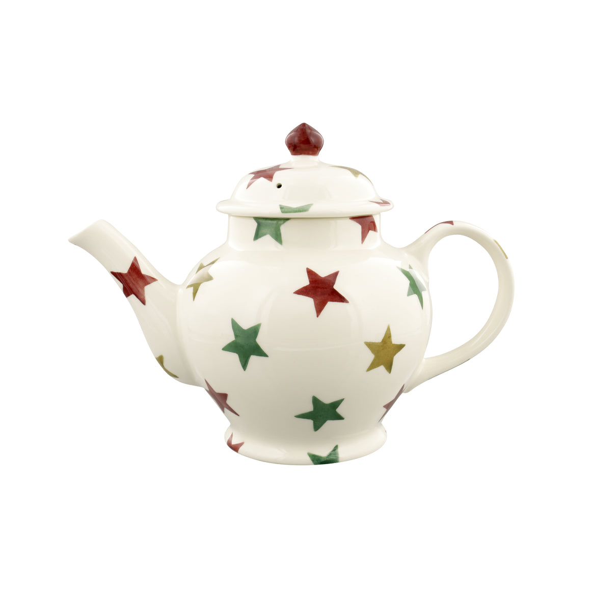Emma Bridgewater Red, Green & Gold 3 Mug Teapot