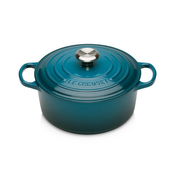 Le Creuset Signature Round Deep Teal Casserole - All Sizes