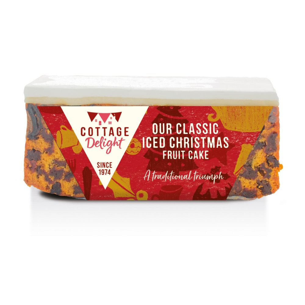Cottage Delight Classic Iced Christmas Fruit Cake