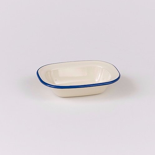 Victor Blue Enamel Oblong Pie Dish - All Sizes