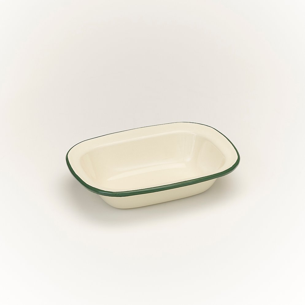 Victor Green Enamel Oblong Pie Dish - All Sizes