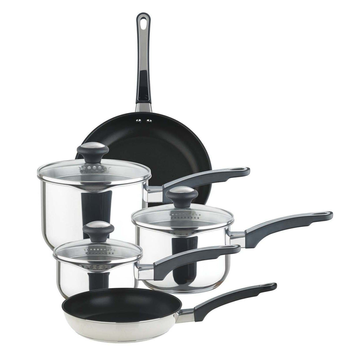 Prestige 5 Piece Strain Away Saucepan Set