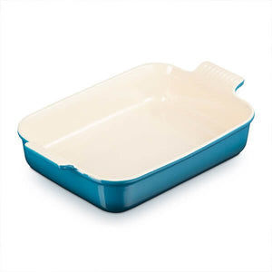 Le Creuset Deep Teal Heritage Stoneware Rectangular Dish - All Sizes