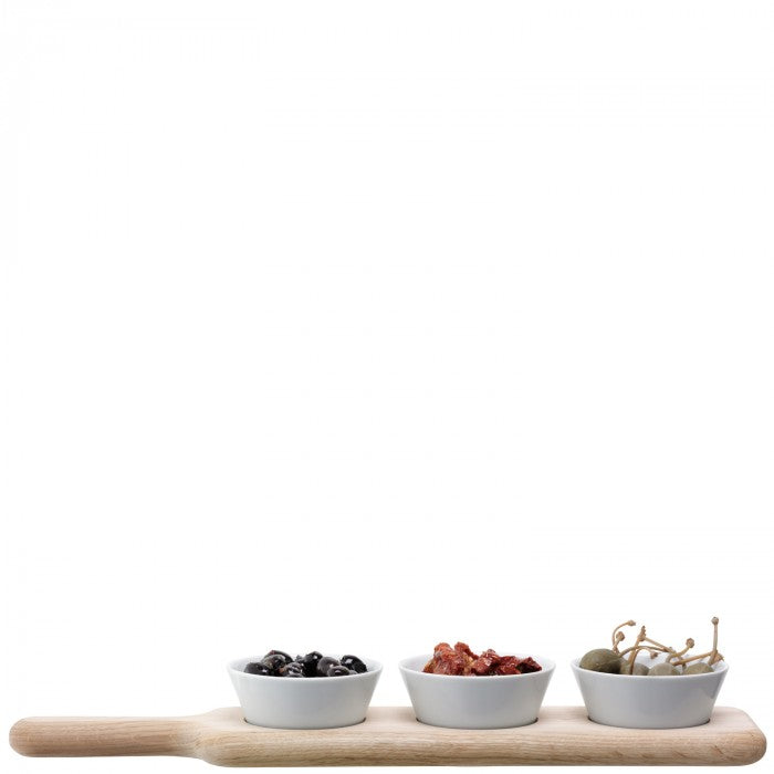 LSA Oak Paddle & Bowl Set