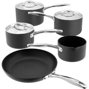 Stellar Hard Anodised 5 Piece Saucepan Set