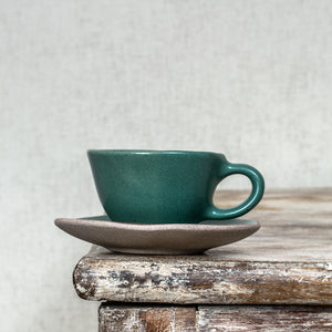 Organic Courgette Espresso Cup & Saucer