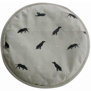 Sophie Allport Black Lab Aga Cover