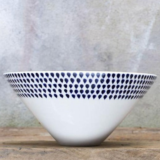 Nkuku Indigo Drop Serving Bowl