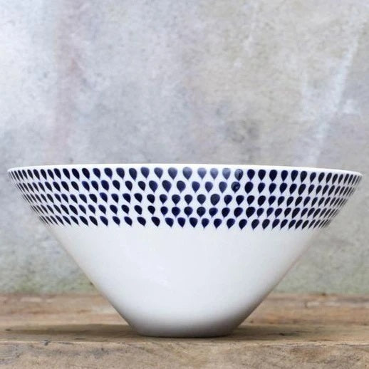 Nkuku Indigo Drop Small Serving Bowl