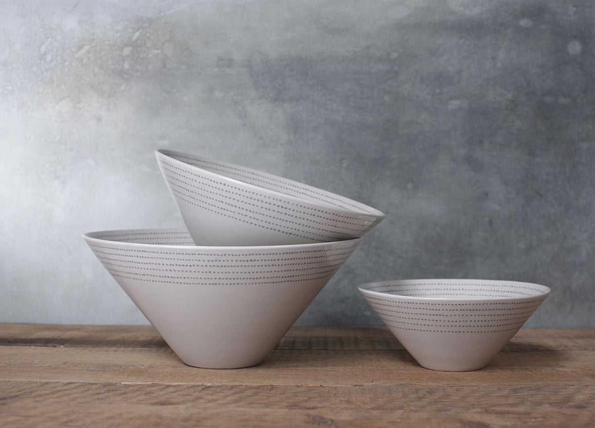 Nkuku Grey Bria Large Serving Bowl