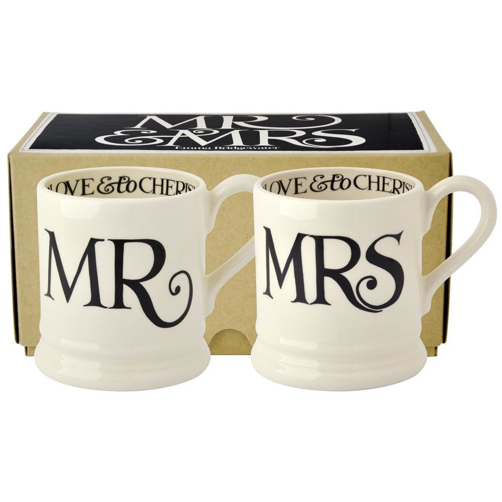 Emma Bridgewater Black Toast Mr & Mrs Mugs